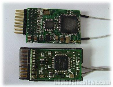 Estudio del Receptor TFR8 FASST compatible con FUTABA Tfr802