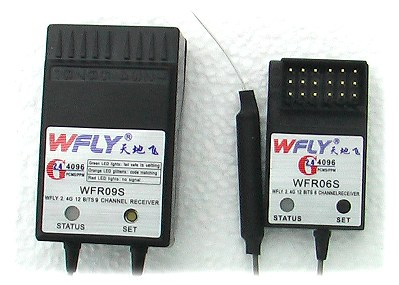WFly 2.4GHz RC receivers